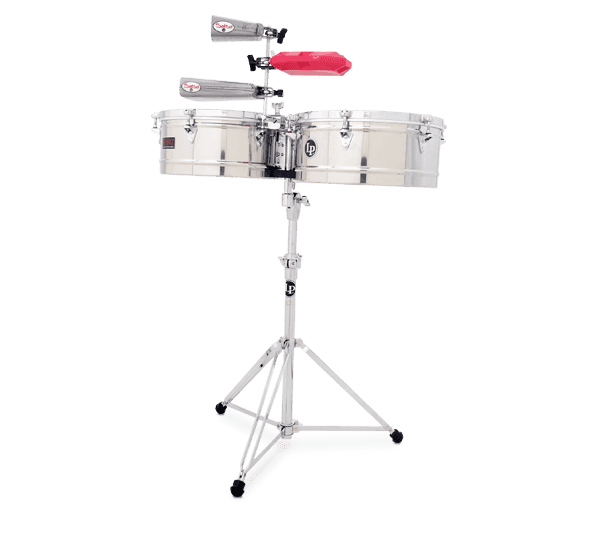"LP1415S - LP® Prestige  14"" and 15"" Timbales - Stainless Steel"