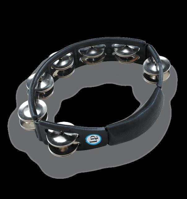 LP150 - LP® Cyclops Handheld Tambourine Black - Steel