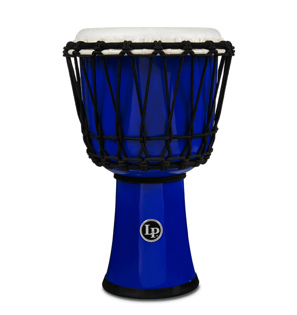 "LP1607BL - 7"" Rope Tuned Circle Djembe - Blue"