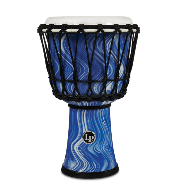 "LP1607BM - 7"" Rope Tuned Circle Djembe - Blue Marble"