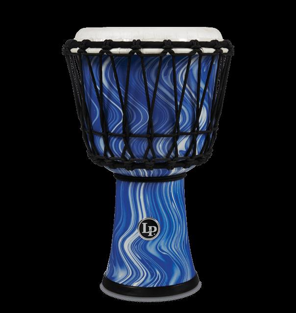 "LP1607BM - 7"" Rope Tuned Circle Djembe - Blue Marble"