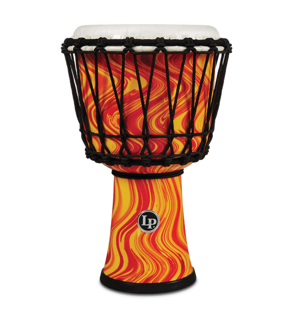 "LP1607OM - 7"" Rope Tuned Circle Djembe - Orange Marble"