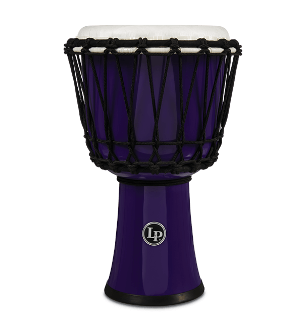 "LP1607PL - 7"" Rope Tuned Circle Djembe - Purple"