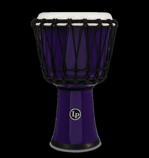 "LP1607PL - 7"" Rope Tuned Circle Djembe - Purple"