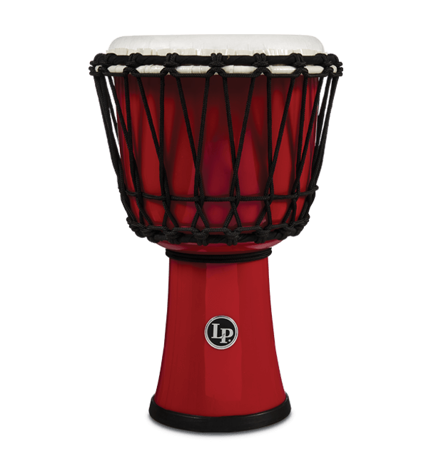 "LP1607RD - 7"" Rope Tuned Circle Djembe - Red"