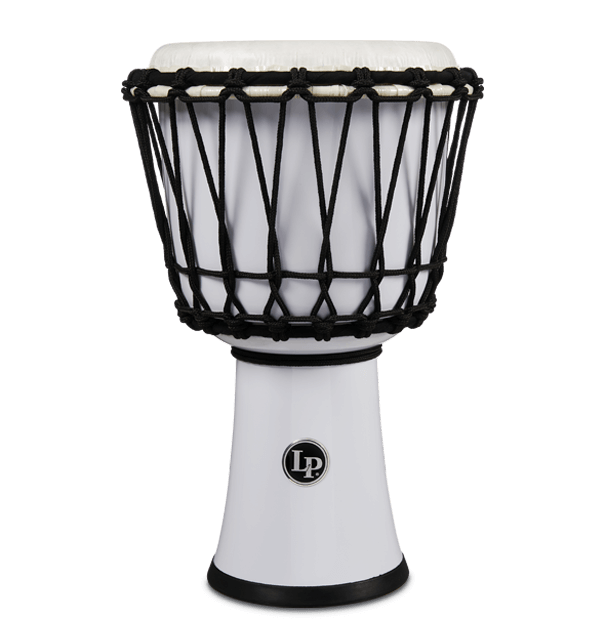"LP1607WH - 7"" Rope Tuned Circle Djembe - White"