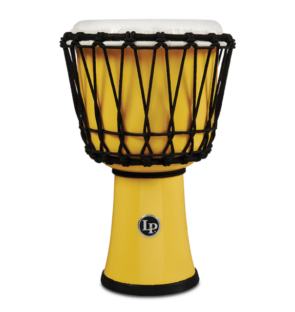 "LP1607YL - 7"" Rope Tuned Circle Djembe - Yellow"