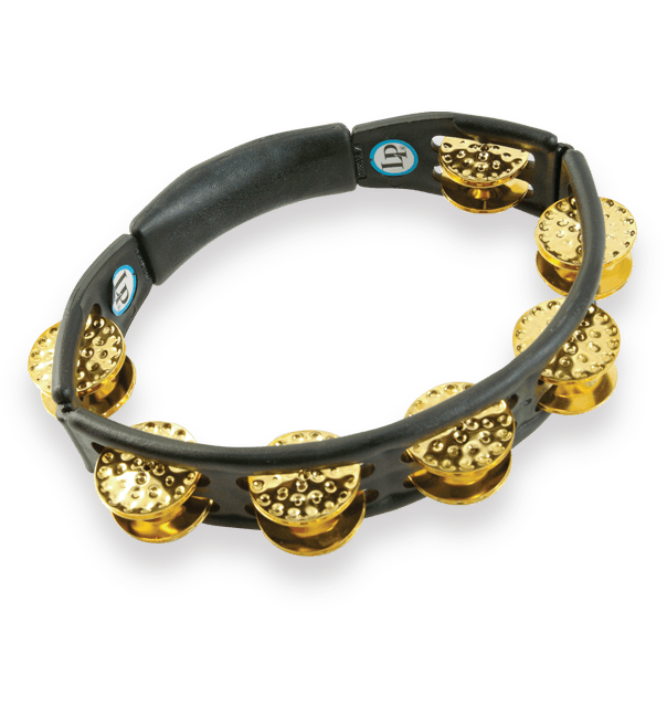 LP174 - LP® Cyclops Handheld Tambourine Black - Dimpled Brass