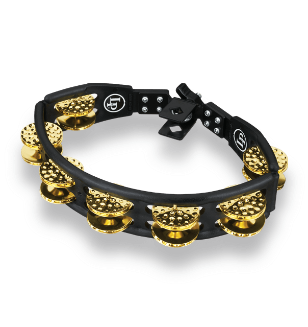 LP179 - LP® Cyclops Mountable Tambourine Black - Dimpled Brass