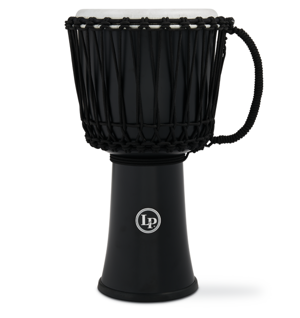 LP2010-BK - LP® 10-inch Rope Tuned Circle Djembe with Perfect-Pitch head - Black