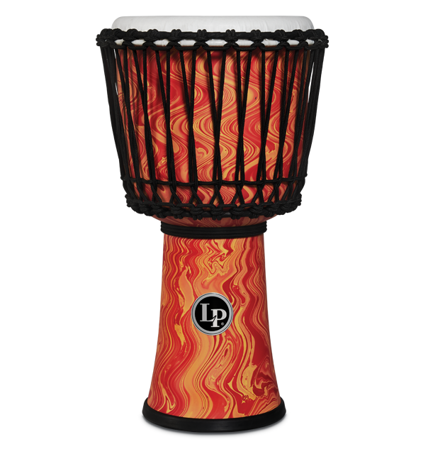LP2010-OM - LP® 10-inch Rope Tuned Circle Djembe with Perfect-Pitch head - Orange Marble