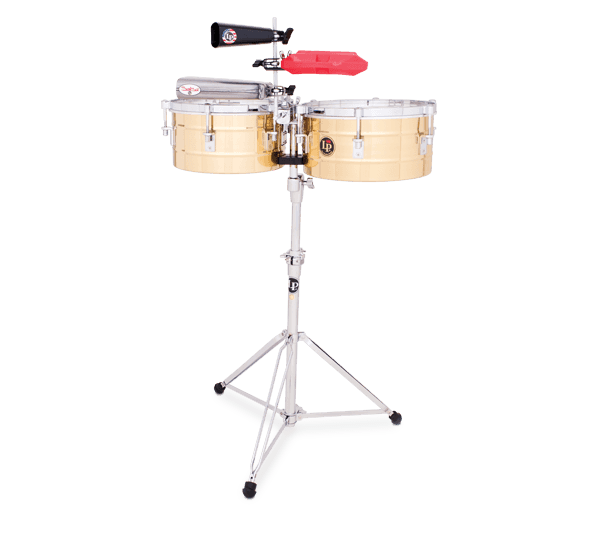 "LP255B - LP® Tito Puente  12"" and 13"" Timbales - Brass"