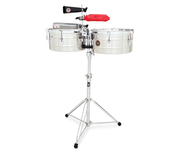 "LP256S - LP® Tito Puente  13"" and 14"" Timbales - Stainless Steel"