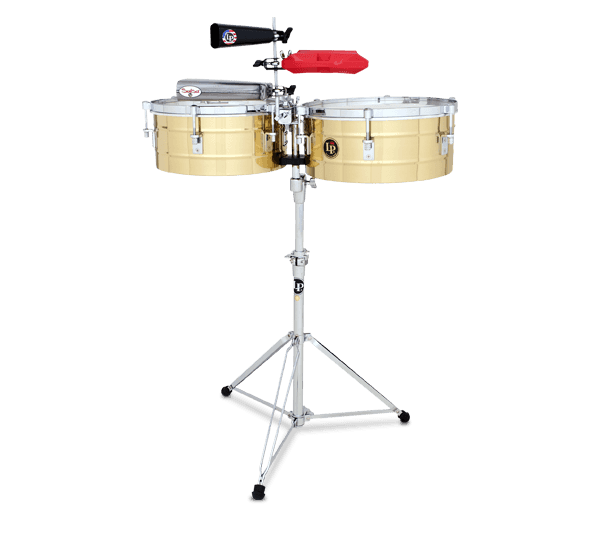 "LP257-B - LP® Tito Puente  14"" and 15"" Timbales - Brass"