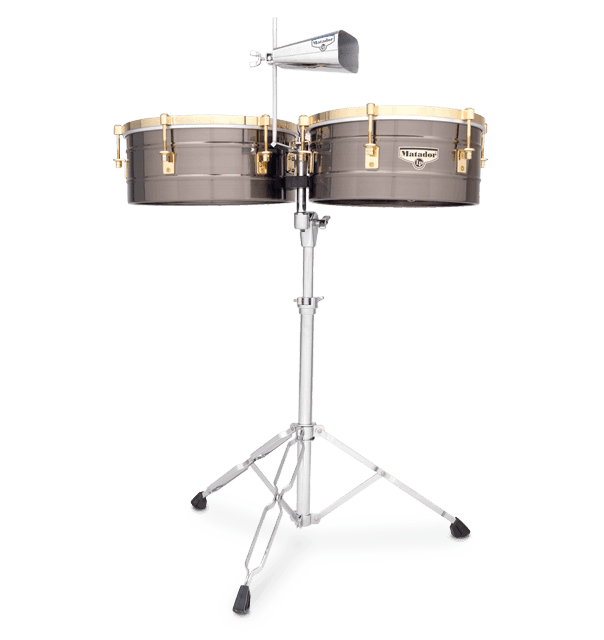 "M257-BNG - LP® Matador® 14"" and 15"" Brush Nickel Timbales"