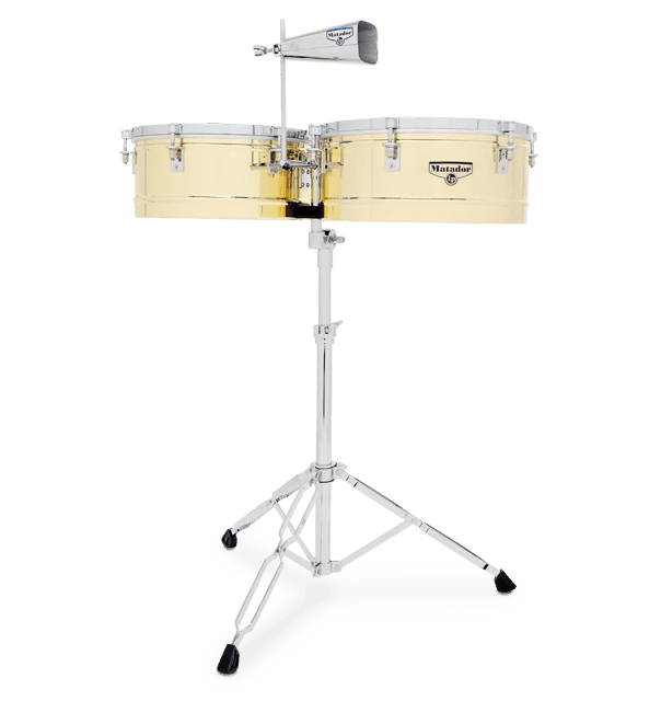 "M257B - LP® Matador® 14"" and 15"" Brass Timbales"